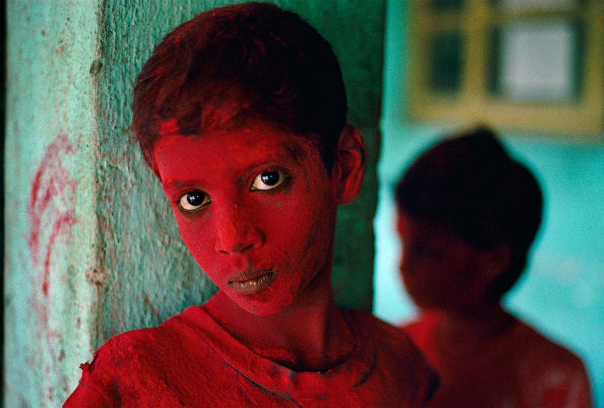 """Red Boy"" by Steve McCurry 