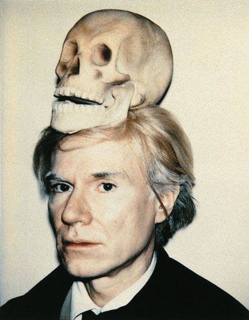 "Andy Warhol | ""Self-Portrait with Skull"" © Andy Warhol"