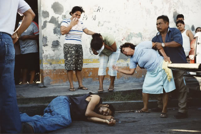 MEXICO. Tenosique. 2007. Murder scene -- the result of an argument in a nearby bar. Contact email: New York : photography@magnumphotos.com Paris : magnum@magnumphotos.fr London : magnum@magnumphotos.co.uk Tokyo : tokyo@magnumphotos.co.jp Contact phones: New York : +1 212 929 6000 Paris: + 33 1 53 42 50 00 London: + 44 20 7490 1771 Tokyo: + 81 3 3219 0771 Image URL: http://www.magnumphotos.com/Archive/C.aspx?VP3=ViewBox_VPage&IID=2K7O3RHSZDKJ&CT=Image&IT=ZoomImage01_VForm