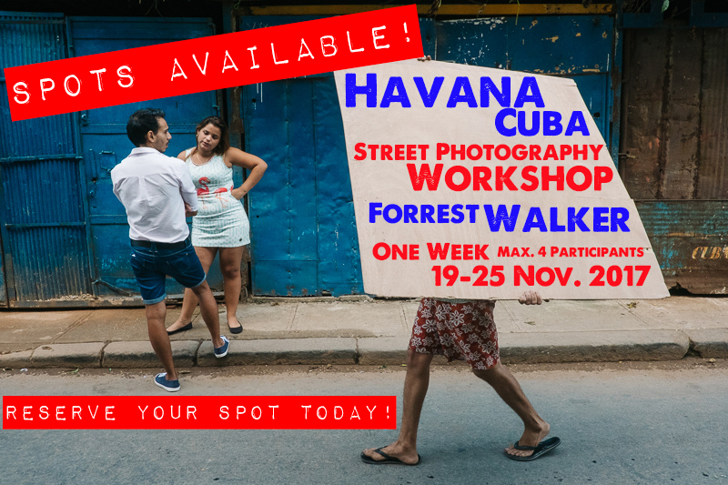 Spots Available! Havana Street Photography Workshop (7 Days/Nov 19-25)